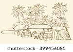 past biblic babel aged jungle... | Shutterstock .eps vector #399456085