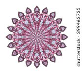 round pink mandala. arabic ... | Shutterstock .eps vector #399463735