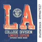 college vector label and print... | Shutterstock .eps vector #399467527