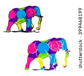 the image of an elephant on a...   Shutterstock .eps vector #399468199