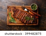 sliced grilled beef barbecue... | Shutterstock . vector #399482875