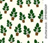 home flower ficus back pattern... | Shutterstock .eps vector #399484069