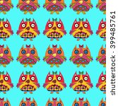 seamless background owls... | Shutterstock .eps vector #399485761