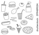 fast food doodle icon... | Shutterstock .eps vector #399489034