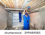 garage doors installation... | Shutterstock . vector #399489085