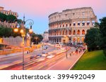 The Ruins Of Colosseum In The...