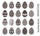 set of black and white easter... | Shutterstock .eps vector #399497455