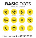 phone flat icons set with call  ... | Shutterstock .eps vector #399498991