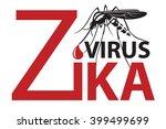 image of zika virus alert with... | Shutterstock .eps vector #399499699