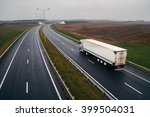 the semi truck moving on a... | Shutterstock . vector #399504031