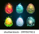 element icons  dragon eggs set  ...