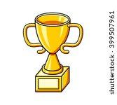 golden trophy cup. | Shutterstock .eps vector #399507961
