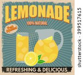 lemonade poster in vintage... | Shutterstock .eps vector #399517615