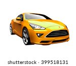 modern yellow car. vector... | Shutterstock .eps vector #399518131