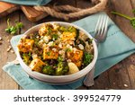 homemade quinoa tofu bowl with...
