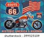 historic americas highway | Shutterstock .eps vector #399525109