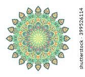 round green mandala. arabic ... | Shutterstock .eps vector #399526114