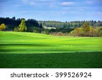 green spring landscape with... | Shutterstock . vector #399526924