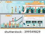 subway train station platform... | Shutterstock .eps vector #399549829