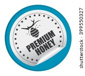blue circle premium honey... | Shutterstock . vector #399550327