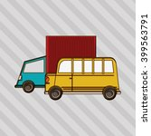 transportation icon design ... | Shutterstock .eps vector #399563791