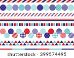 set of marine decoration lines. | Shutterstock .eps vector #399574495