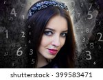 woman's face  magic of figures  ... | Shutterstock . vector #399583471