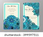vintage card. wedding... | Shutterstock .eps vector #399597511