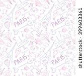 paris symbols vector pattern  ... | Shutterstock .eps vector #399603361
