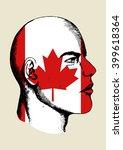 sketch illustration of a face... | Shutterstock .eps vector #399618364