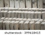 concrete  stake on site. | Shutterstock . vector #399618415