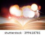 abstract magic book  | Shutterstock . vector #399618781