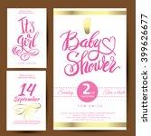 vector watercolor pink sticker... | Shutterstock .eps vector #399626677