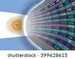 national flag of argentina with ... | Shutterstock . vector #399628615