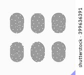 fingerprint icons set. vector. | Shutterstock .eps vector #399636391