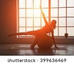 silhouette fitness woman. woman ... | Shutterstock . vector #399636469