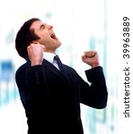 excited mature business man... | Shutterstock . vector #39963889