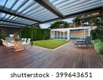 A Beautiful Courtyard With A...