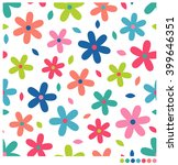 colorful cute simple flowers... | Shutterstock .eps vector #399646351