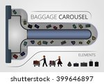 the baggage carousel... | Shutterstock .eps vector #399646897