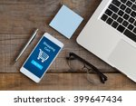 shopping cart page in a mobile... | Shutterstock . vector #399647434