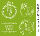 hand drawn spring labels with...   Shutterstock .eps vector #399664069