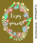 greetings card with flowers ... | Shutterstock .eps vector #399680971
