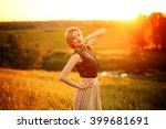fashion photo of beautiful... | Shutterstock . vector #399681691