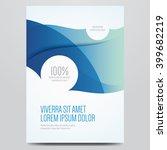 flyer  brochure  poster  annual ... | Shutterstock .eps vector #399682219