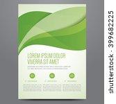 brochure  poster  annual report ... | Shutterstock .eps vector #399682225