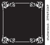 vintage baroque frame scroll... | Shutterstock .eps vector #399691069