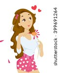 illustration of a teenage girl... | Shutterstock .eps vector #399691264