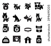 dog icon | Shutterstock .eps vector #399699205