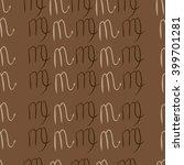 seamless  pattern of zodiac... | Shutterstock . vector #399701281